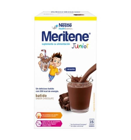 Meritene Junior 30 g 15 sobres de chocolate